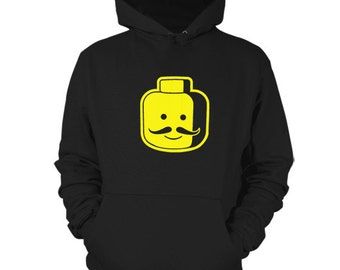 Lego Moustache Hoodie Funny Sweater