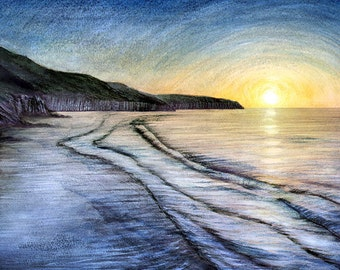 Evening tide - Limited edition signed print