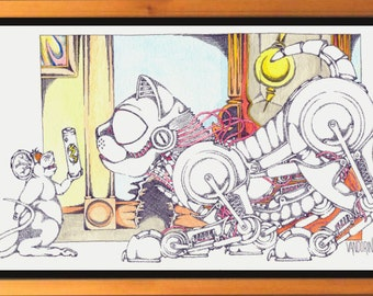 Batteries not included, studio framed print