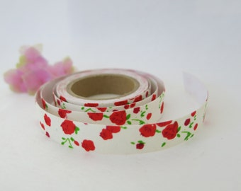Floral Fabric Tape / Adhesive Decoration Fabric Tape  FT010