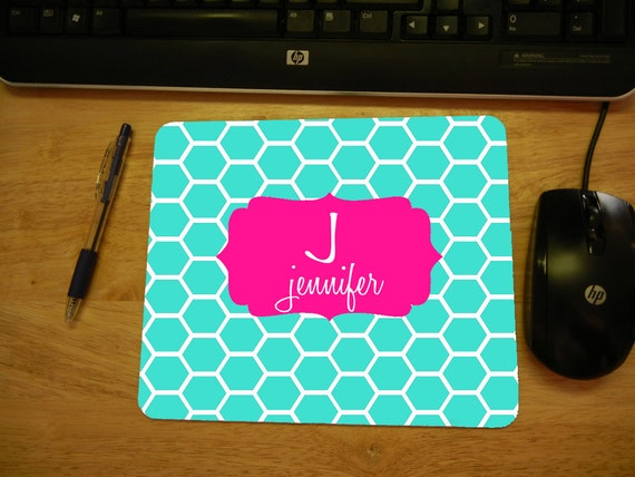 personalized mouse pad create your own pattern and monogram. Black Bedroom Furniture Sets. Home Design Ideas
