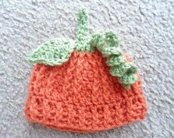 Pumpkin Hat Sizes Newborn, 0-3 mths, 3-6 mths, 6-9 mths, 9-12 mths
