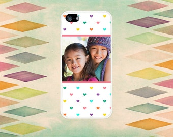 Add Your Own Photo To This Tiny Hearts Case: iPhone 4 // 4s, 5c or 5 // 5s
