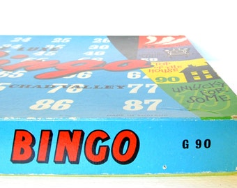 Vintage bingo game by Chad Valley, 1960s board game