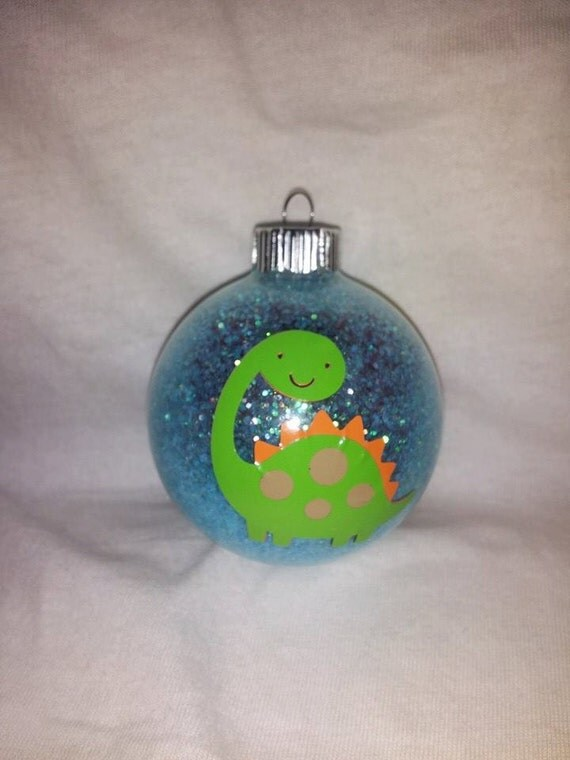 Dinosaur christmas ornament personalized with by kikiskornersc