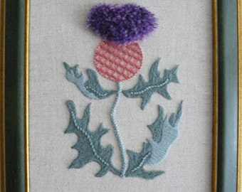 Scottish Thistle Starter Crewel Embroidery Kit
