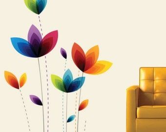 Colorful Flowers Wall Decal