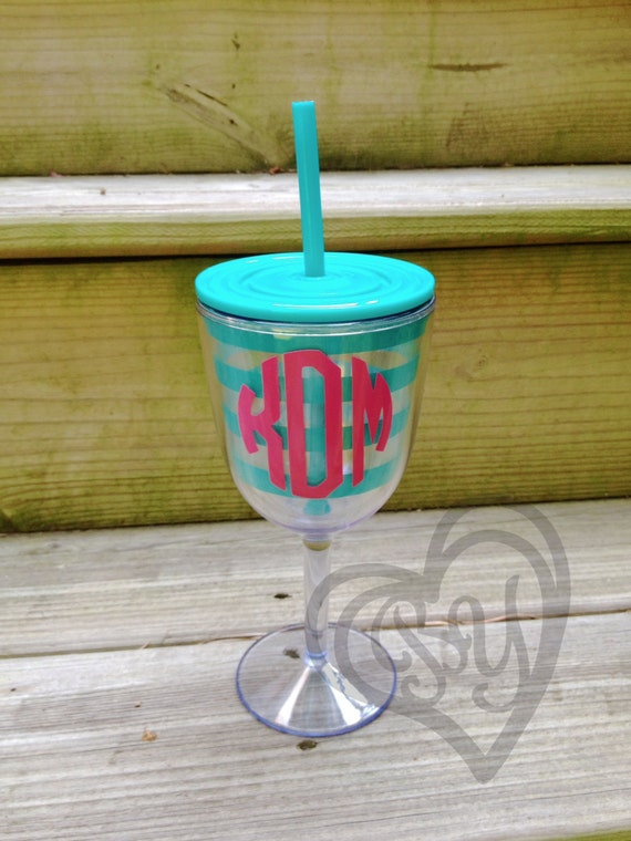 plastic double wall wine glass tumbler teal by beautifulyougifts. Black Bedroom Furniture Sets. Home Design Ideas