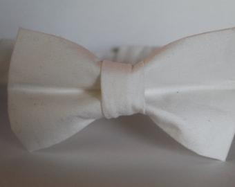 SALE! Solid white bow tie, baby, boy, adjustable velcro closure