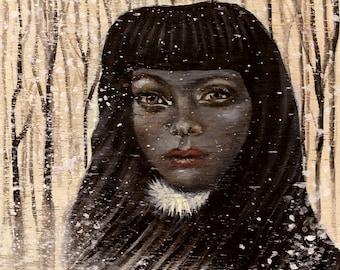 Original Acrylic Painting on Wood