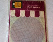 Hair Nets - Vintage Tip-Top Un-See-Able - Package of 3 dark nets - Beauty Supply - No 3674/2 - FREE Shipping on this item