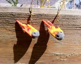 EN Creations: Cute meteor earrings