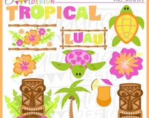 Luau Tropical Clipart