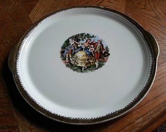 1970's George & Martha Serving Plate, made by the Cronin China Co.