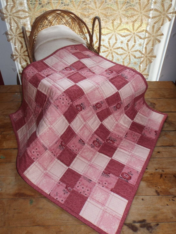 Pink Doll Quilt for American Girl Dolls