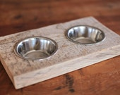 FEAST | Reclaimed wood dish for cat, dog, and human alike!