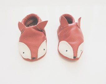 Leather Baby Fox Shoes