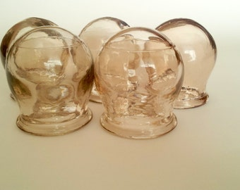 Vintage Medical Glass Cupping Soviet Russian Old Medical Apothecary Medical Jars Old Medical Fire Glass Cupping 1960s