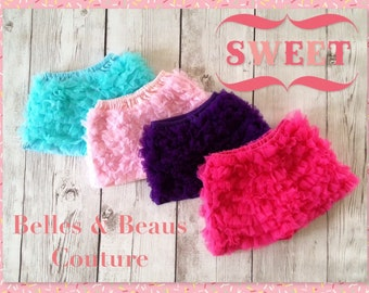 Hot Pink - Petti Chiffon Shorts - Baby Shorts - Girls Shorts - Petti Shorts - Ruffle Shorts - Chiffon Shorts - Shorts - Bloomers - Shorties
