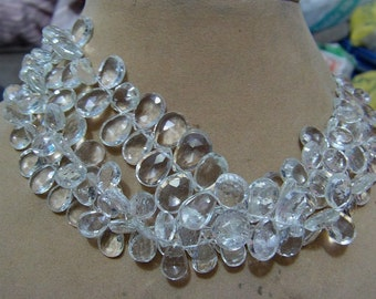 1 Strand  Clear quartz   Faceted Layout   beads  7''  35, grams