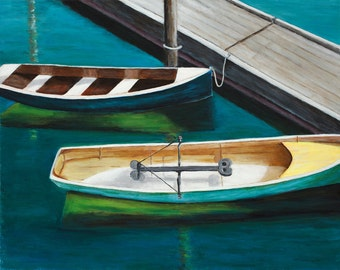 Boats in Maine - Giclee Print
