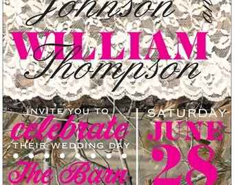 Camo Lace Wedding Invitations and more - many styles