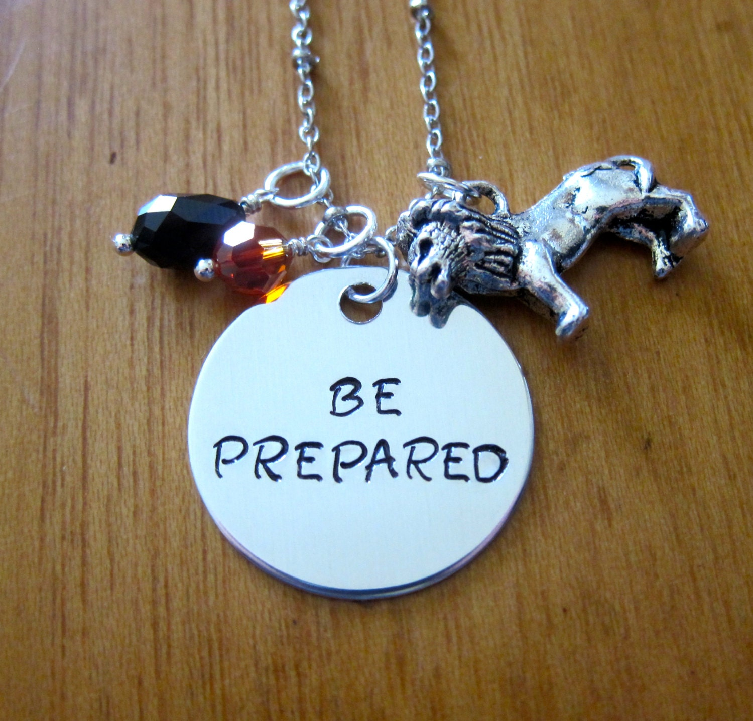 Lion King Inspired Necklace Villain Scar Quote Be Prepared