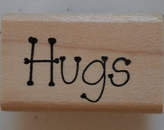 Hugs Rubber Stamp - 197W08