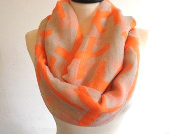 Cross infinity scarf, loop scarf, circle scarf, women scarf, cross scarf, infinity loop scarf, cross print scarf