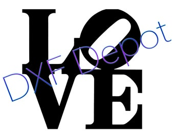 Love Sign .dxf format. - CNC Cut File - Vector Art - Clip Art - DXF
