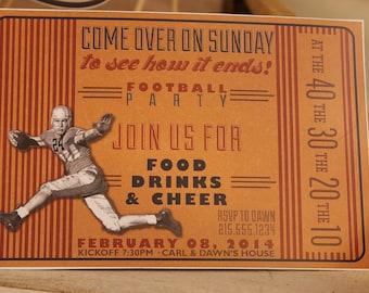 Football Invitation - Editable & Printable - Vintage Style.