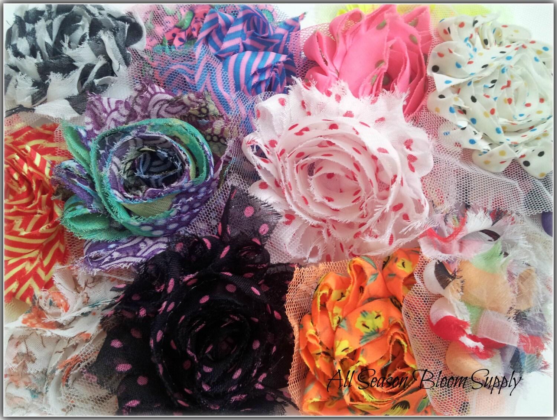 Grab Bag Of 10 15 Or 20 Printed Shabby Flowers Print