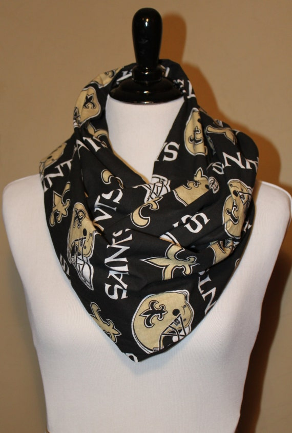 new orleans saints infinity scarf by twelve21creations on etsy