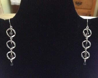 Semi-Precious Pierced Stone Earrings