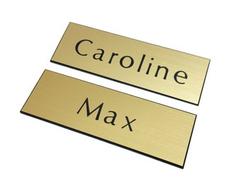 Two 2 Broke Girls Plastic Gold 1 x 3 Name Tags with Pin Badge Max & Caroline Costume Prop