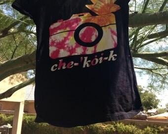 che-koi-k  black tie dye phtography shirt