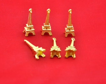 Golden Eiffel tower Charms -20pcs Golden Paris Eiffel Tower Charm Pendants -23*9mm --G00162