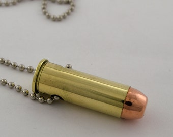 44 Magnum Bullet Necklace on Ball Chain made with a Real Bullet Shell Casing Mens Bullet Jewelry Free Shipping