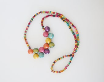 Wooden necklace / wooden beads necklace