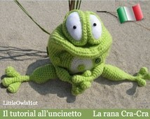 013IT the tutorial crochet the frog Cra-Cra. Amigurumi Toy-Pertseva Etsy PDF