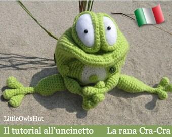 013IT Il tutorial all'uncinetto La rana Cra-Cra. Amigurumi Giocattolo - PDF Di Pertseva Etsy