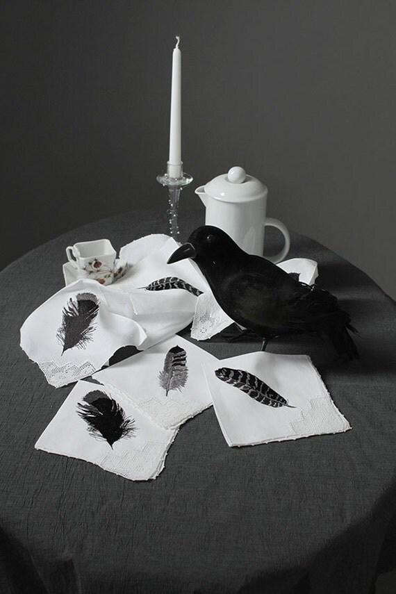 Raven Feather Napkins