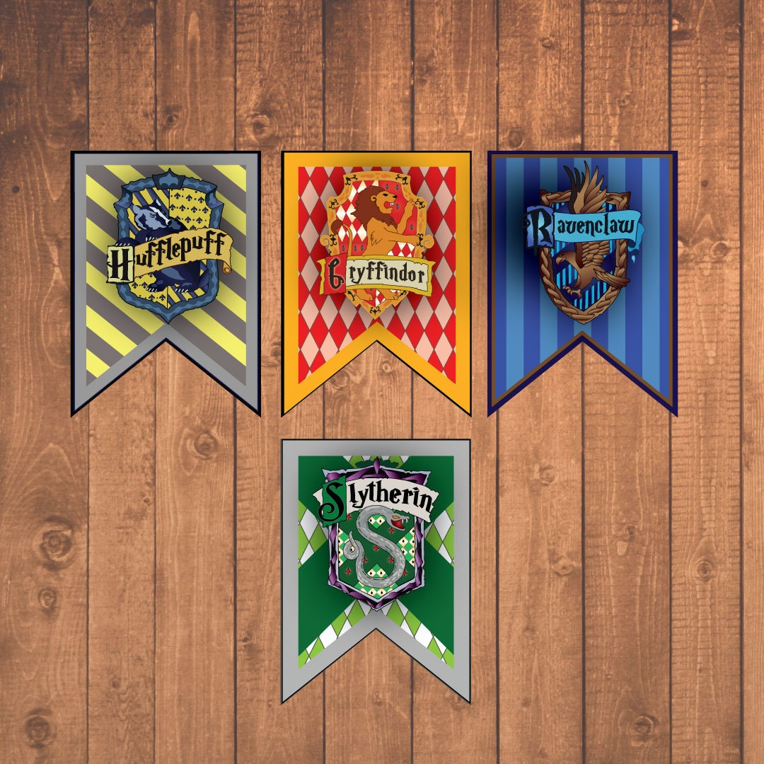Harry Potter House Banners Instant Downloadable Printable