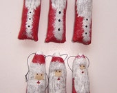 Country Christmas Ornaments, Hand Painted Santas, Country Decor, Primitive Santas