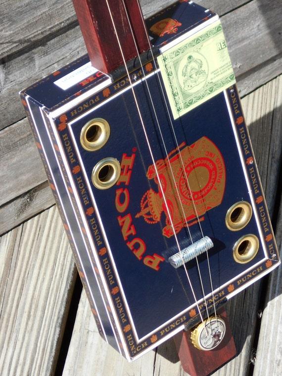 electric 3 string cigar box guitar handmade. Black Bedroom Furniture Sets. Home Design Ideas