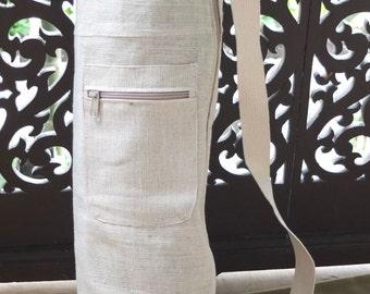 SALE: Yoga mat bag, zip, zipper, pocket (natural)