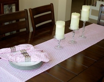 90 Inch Table Runner / House Warming Gifts/ Birthday Party Decor/ Pink Table  Runner