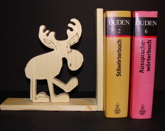 Wooden book-stand with moose2