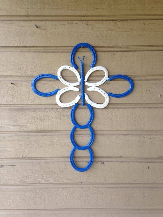 Items similar to home made horseshoe art all art custom for Things made from horseshoes