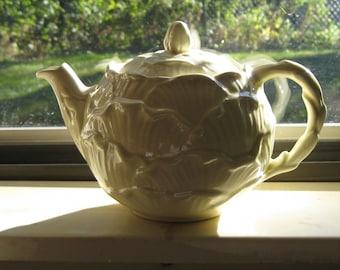 SylvaC Yellow or Green English Rose Teapot Made in England